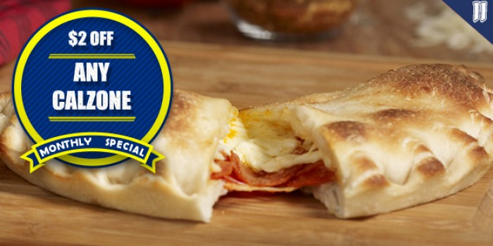 2$ OFF ANY CALZONE <h6>*MUST MENTION COUPON</h6>